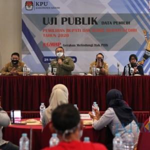 KPU Kabupaten Kediri Gelar Uji Publik Data Pemilih dalam Pilkada 2020