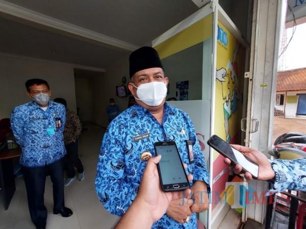 Pjs Bupati Malang, Sjaichul Ghulam saat berada di Kantor MalangTIMES, Senin (28/9/2020). (Foto: Tubagus Achmad/MalangTimes)