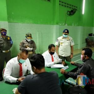 Cegah Penyebaran Covid-19, Pjs Bupati Blitar Pimpin Langsung Operasi Yustisi