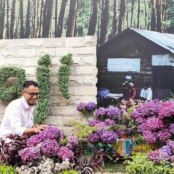 Jajaran Bunga Hortensia di Taman Bumiaji Sambut Wisatawan Berlibur di Kota Batu