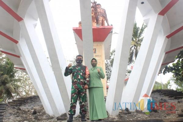 Dandim 0808/Blitar Letkol Arh Dian Musriyanto kunjungi Monumen Tugu Trisula