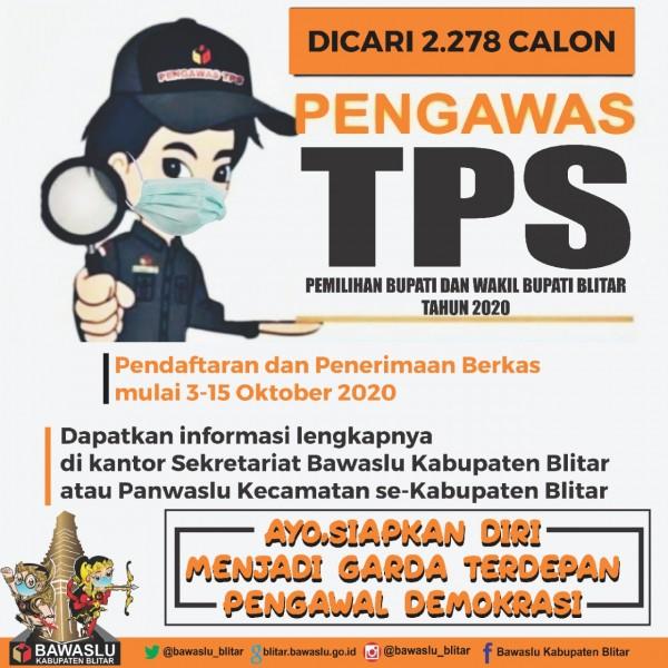 Bawaslu Kabupaten Blitar membuka lowongan pengawas TPS