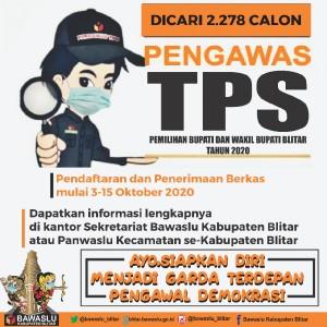 Pilbup Blitar, BawasluBuka Lowongan 2.278 Pengawas TPS