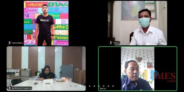 Zoom meeting rilis inflasi BPS Kota Malang September 2020 (tangkapan layar)