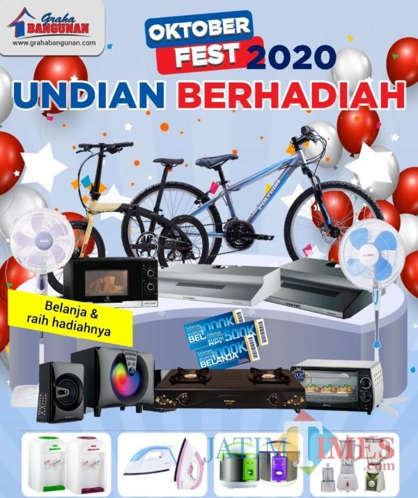 Program Undian Berhadiah Oktober Fest, Graha Bangunan Siapkan Kompor Gas hingga Sepeda