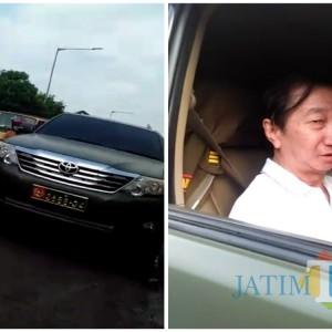 Viral! Pakai Mobil Pelat Dinas TNI, Pria Bercelana Pendek Mampir di Warung