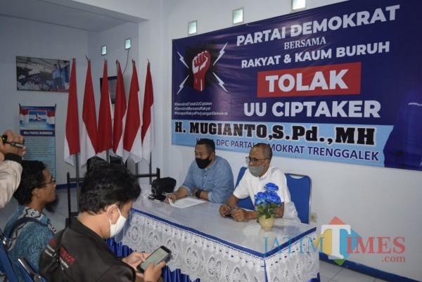 DPC Demokrat Trenggalek Siap Berkoalisi dengan Buruh, Sepakat Tolak UU Cipta Kerja