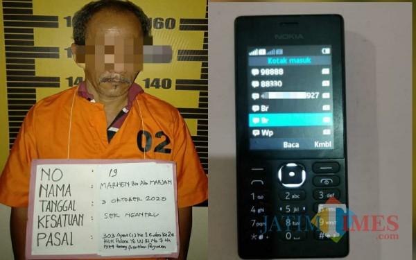 MH, dan barang bukti yang disita polisi / Foto : Dokpol / Tulungagung TIMES