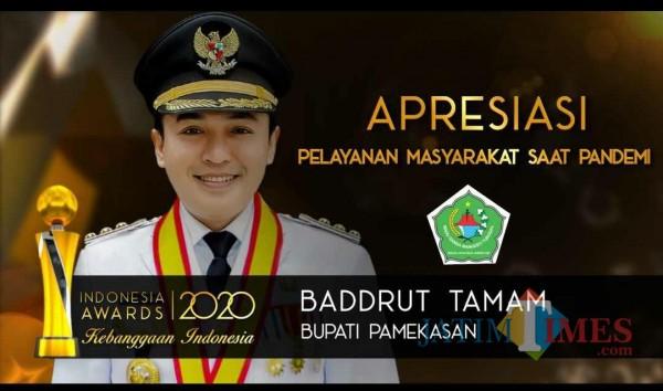 Bupati Pamekasan Raih Penghargaan di Ajang Indonesia Award 2020