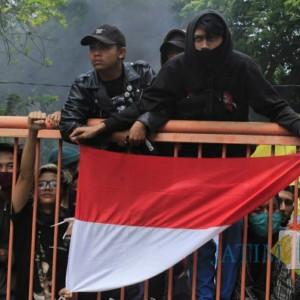 Aksi Demo Omnibus Law di Kediri Ricuh, Satu Orang Diduga Provokator Diamankan Polisi