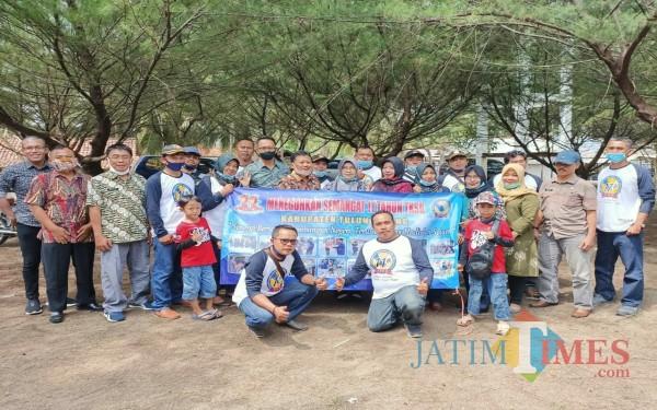 Para TKSK dari 19 Kecamatan berkumpul di pantai Sine Kalidawir / Foto : Istimewa / Tulungagung TIMES