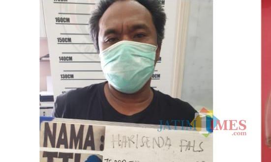 Hari Senda Flas, salah satu pelaku yang diamankan Satreskoba Polres Jember (foto : istimewa / Jatim TIMES)
