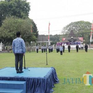 Peserta Upacara Peringatan HUT Provinsi Jawa Timur di Lumajang Dibatasi
