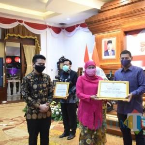 Wali Kota Kediri Terima Penghargaan Pembina AoC Gema Cermat Terbaik se-Jawa Timur