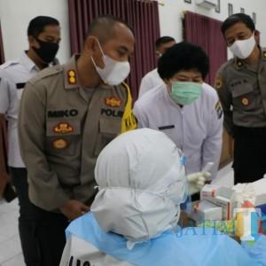 Deteksi Covid-19, Sebanyak 540 Personel Polresta Kediri Jalani Rapid Test