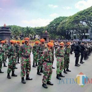 Masih Sepi, 3.000 Pasukan Gabungan Apel Persiapan Pengamanan Demo