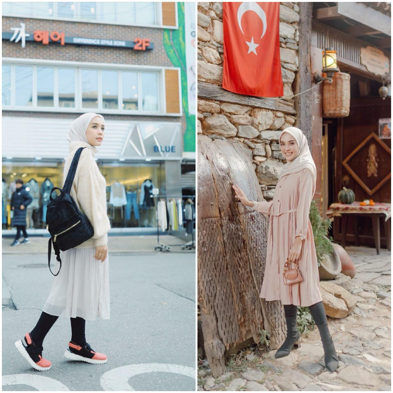 Tetap Anggun Dan Santun Berhijab Meski Pakai Legging Inspirasi Outfit Ini Bisa Ditiru Lho Jatim Times