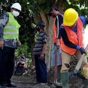 Proyek Padat Karya Dinas PU Kota Kediri Pekerjakan 3.750 Warga Terdampak Covid-19