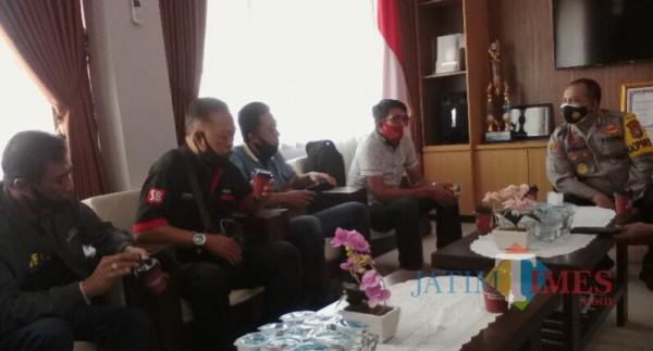 Minta Jaminan Keamanan, Puluhan Wartawan Datangi Kapolresta Banyuwangi