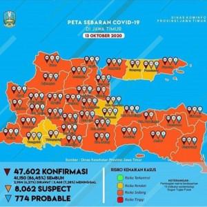 Covid-19 Tembus 973 Kasus, Kabupaten Malang Kembali ke Zona Oranye