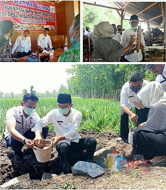 Bupati Ngawi Resmikan Desa Wisata Industri Akar Jati Ngubalan