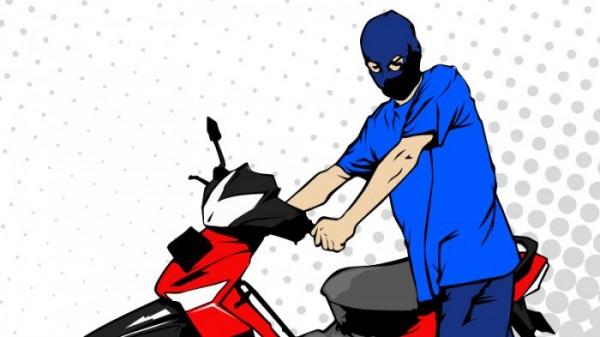 Ilustrasi pencurian motor (TribunnewsPalembang)