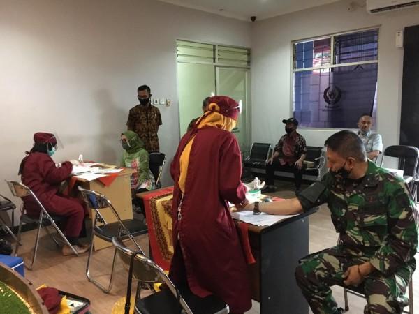 Suasana test PCR Eclia di kantor KONI Kota Malang, Kamis (15/10/2020) (KONI Kota Malang)
