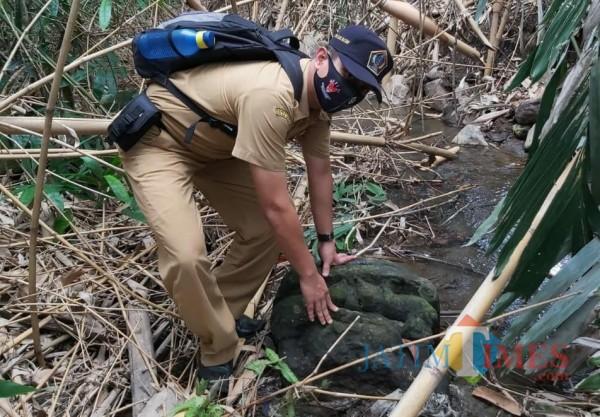 Benda purbakala ditemukan di Desa Gandusari Kab Blitar. (Foto: Dokumen JatimTIMES)