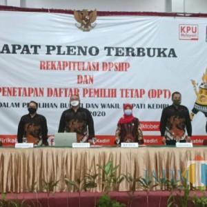 KPU Kabupaten Kediri Tetapkan DPT Pilkada Kabupaten Kediri