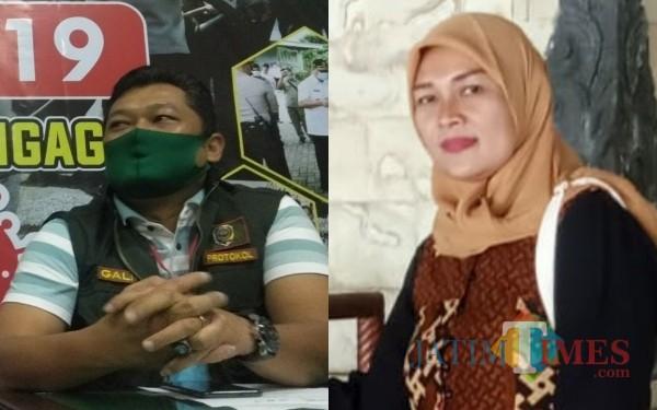 Wakil Jubir GTPP Covid-19 Tulungagung Galih Nusantoro dan Endriyani Politisi PPP Tulungagung / Foto : Istimewa / Tulungagung TIMES
