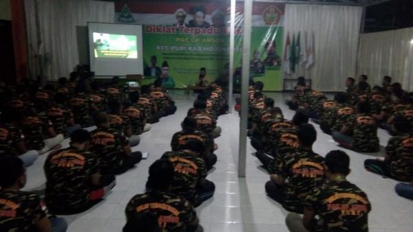 Kegiatan Diklatsar Banser di Ponpes Sabilul Muhtadi Puri Kabupaten Mojokerto (Foto: Istimewa)