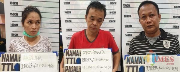 Bawa Sabu, Warga Banyuwangi dan Surabaya Digelandang Satreskoba Polres Jember