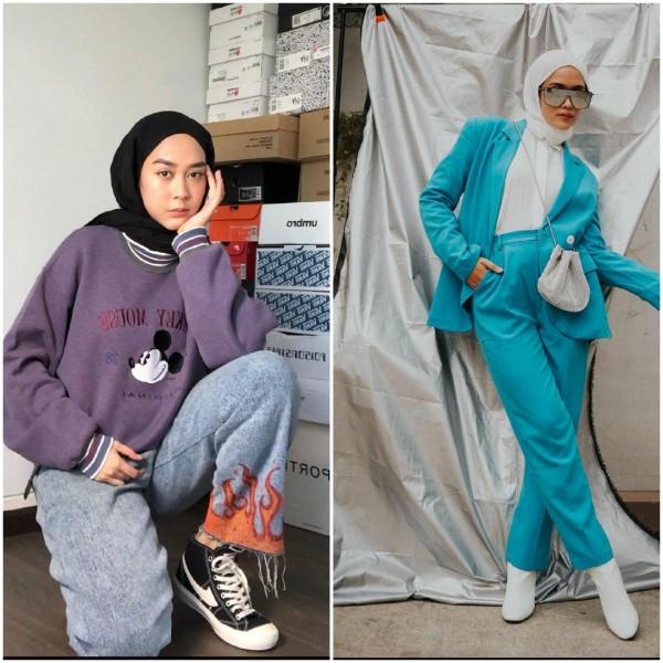 Outfit color block ala selebgram hijab. (Foto: source Instagram).