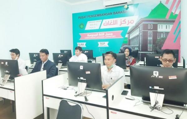 Tim pengajar di Pusat Pengembangan Bahasa (PPB) UIN Malang. (Foto: Humas)