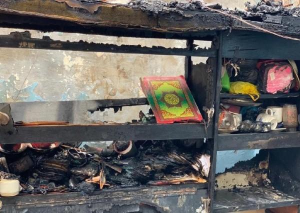Al-Qur'an utuh di rumah yang terbakar (Foto: detik.com)