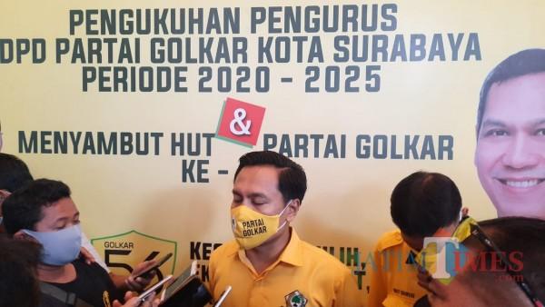 Resmi Dikukuhkan, Ketua Golkar Surabaya Siap Mundur jika Tak Bawa Perubahan