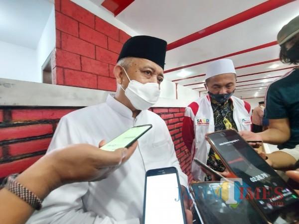 Calon bupati (cabup) Malang HM. Sanusi saat ditemui awak media beberapa waktu lalu. (Foto: Tubagus Achmad/MalangTimes)
