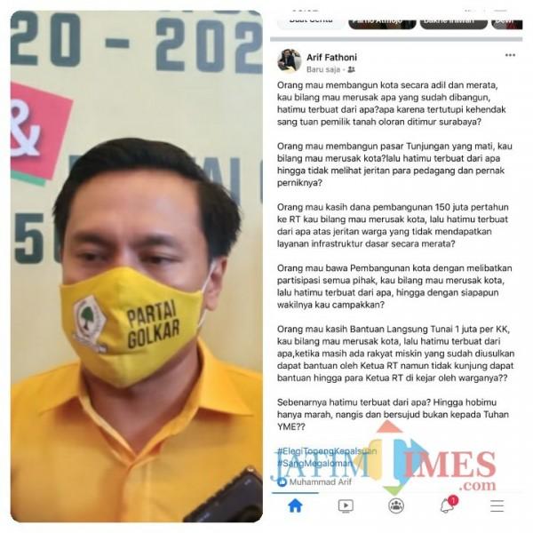 Ingin Membangun Kota Dibilang Merusak, Ketua Golkar Surabaya: Hatimu Terbuat dari Apa?