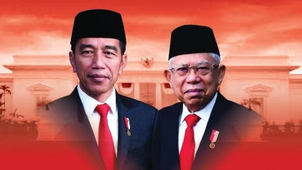 Joko Widodo dan Ma'ruf Amin (Foto:  apahabar.com)