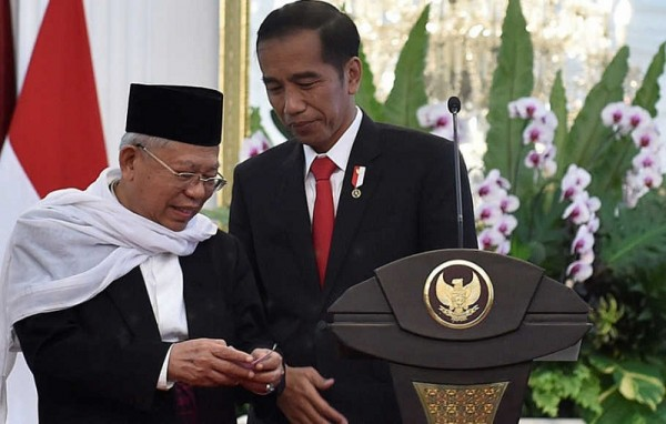 Joko Widodo dan Ma'ruf Amin (Foto:  Alinea.ID)