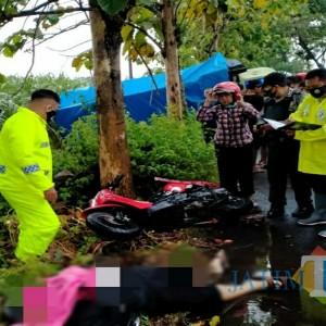 Hujan Lebat, Pengendara Scoopy di Tulungagung Tewas