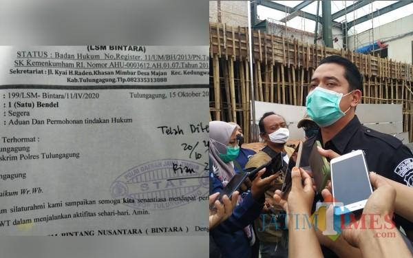 Surat aduan Bintara dan Kasat Reskrim AKP Ardyan Yudo Setyantoro. (Foto: Anang Basso/Tulungagung TIMES)