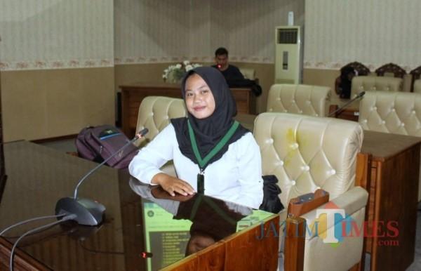 Zahra Qobliyati Fatra, Sekretaris Umum KOHATI Komisariat Cendekiawan Muslim (Nurhadi Banyuwangi Jatim Times)