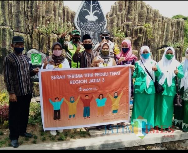 Bank BTPN bersama PC fatayat NU Kab Madiun dalam penyerahan taman edukasi budaya kepada pemerintah desa Sidomulyo kec Wonoasri Kab.Madiun