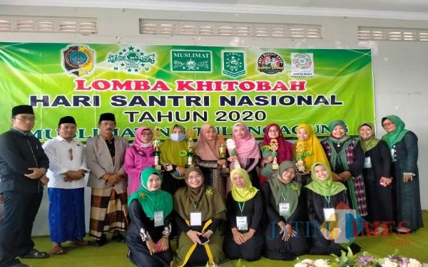 Pemenang lomba Khitobah Muslimat Tulungagung / Foto : Bunda Mif / Tulungagung TIMES