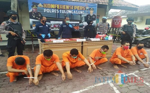 Satereskoba rilis ungkap narkoba sejak 1 Oktober 2020. / Foto : Anang Basso / Tulungagung TIMES