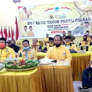 HUT Ke-56 Partai Beringin, Golkar Ngawi Potong Tumpeng