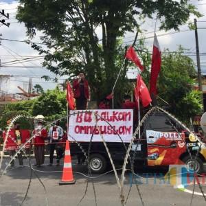 Demo IMM Malang Raya Tolak UU Cipta Kerja di Kota Batu, Kapolres Batu Justru Beri Apresiasi