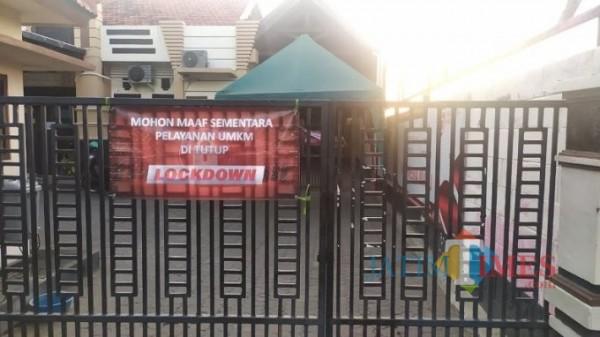 Pemohon Bantuan UKM Reaktif Covid-19, Kantor DKUPP Kota Probolinggo Lockdown