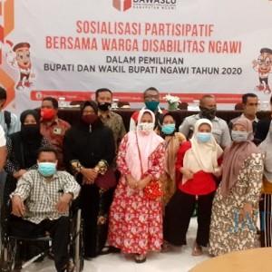 Bawaslu Kabupaten Ngawi Ajak Penyandang Disabilitas Awasi Pilkada